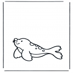 Animals coloring pages - Seal 1