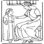 Bible coloring pages - Servant girl Naäman