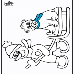 Winter coloring pages - Sled 1