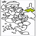 Winter coloring pages - Sled 2