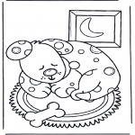Animals coloring pages - Sleeping dog