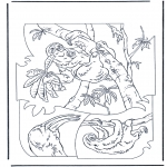 Animals coloring pages - Sloth