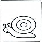 animals coloring pages - Snail 1