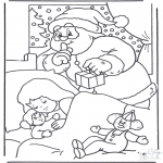 Christmas coloring pages - Sneaky Santa Claus