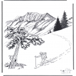 Winter coloring pages - Snow in Yellowstone 2