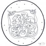 Crafts pricking cards - Snow white prickingcard