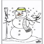 Winter coloring pages - Snowman 2