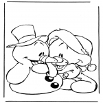 Comic Characters - Snowman and bear