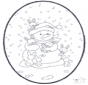 Snowman prickingcard