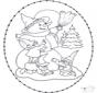 Snowman stitching card