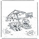 Kids coloring pages - SpongeBob 3