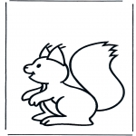 Animals coloring pages - Squirrel 1