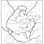 Bible coloring pages - Sshepherd and sheep