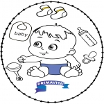 Theme coloring pages - Stitchingcard baby 2