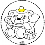 Christmas coloring pages - Stitchingcard Christmas bear