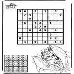 Crafts - Sudoku dolphin