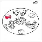 Mandala Coloring Pages - Summer mandala