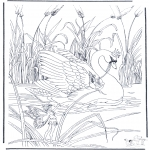 Animals coloring pages - Swan