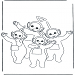 Kids coloring pages - Teletubbies 8