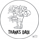 Theme coloring pages - Thank you dad 2