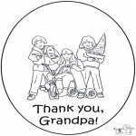 Theme coloring pages - Thanks grandpa