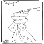 Bible coloring pages - The baker and Joseph