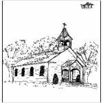 Bible coloring pages - The church 2