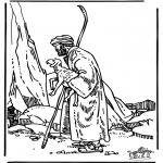 Bible coloring pages - The good shepherd 3
