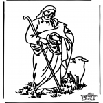 Bible coloring pages - The good shepherd 4