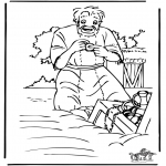 Bible coloring pages - The treasure