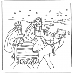 Bible coloring pages - Three wise men 1