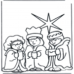 Bible coloring pages - Three wise men 2