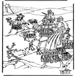 Bible coloring pages - Three wise men 3