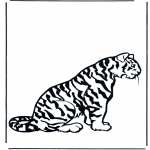 Animals coloring pages - Tiger 2