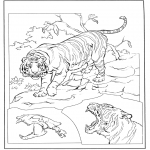 Animals coloring pages - Tiger 3