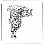 Animals coloring pages - Tiger