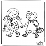 Kids coloring pages - To school 3