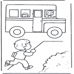 Kids coloring pages - To school 5