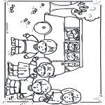 Kids coloring pages - To school by bus