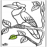 Animals coloring pages - Toucan