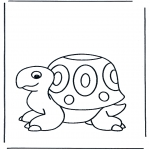 Animals coloring pages - Turtle