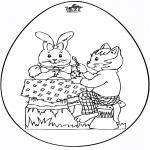 Theme coloring pages - Uovo di Pasqua 5