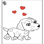 Theme coloring pages - Valentine Dog
