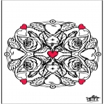 Theme coloring pages - Valentine Flowers