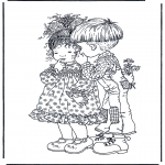 Theme coloring pages - Valentine's day 1