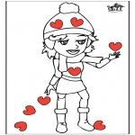 Theme coloring pages - Valentine's day 14