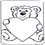 Theme coloring pages - Valentine's day 36