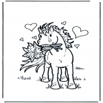 Theme coloring pages - Valentine's day 4