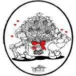 Theme coloring pages - Valentine's day 61