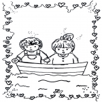 Theme coloring pages - Valentine's day 7